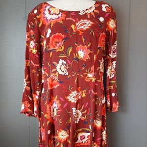 Old Navy Womens Dress size 6 burgundy